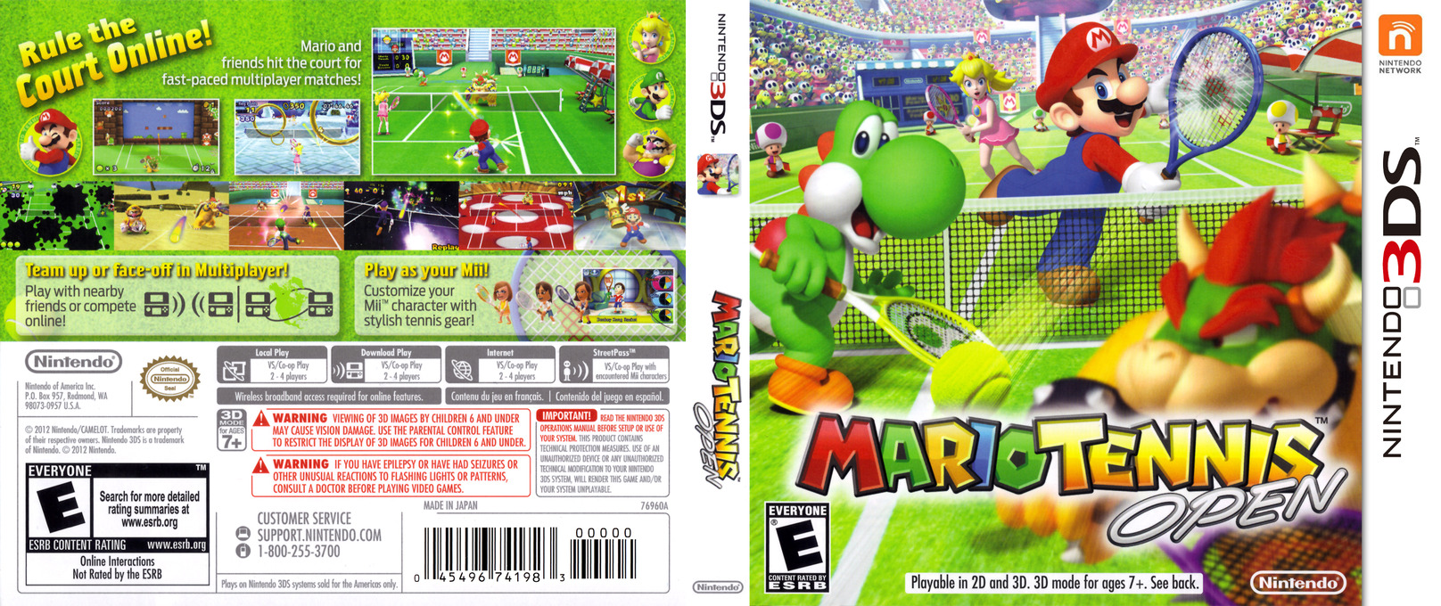 Mario Tennis Open Array coverfullHQ (AGAE)