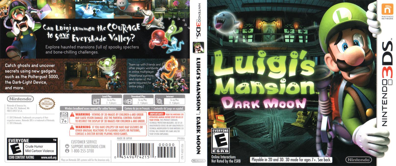 Luigi's Mansion - Dark Moon 3DS coverfullHQ (AGGE)