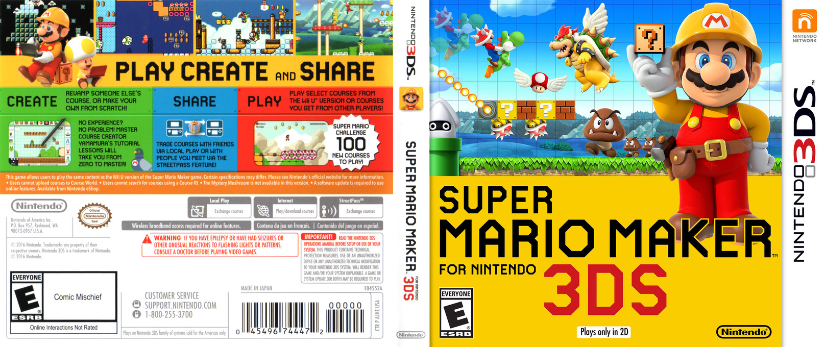 Super Mario Maker for Nintendo 3DS 3DS coverfullHQ (AJHE)
