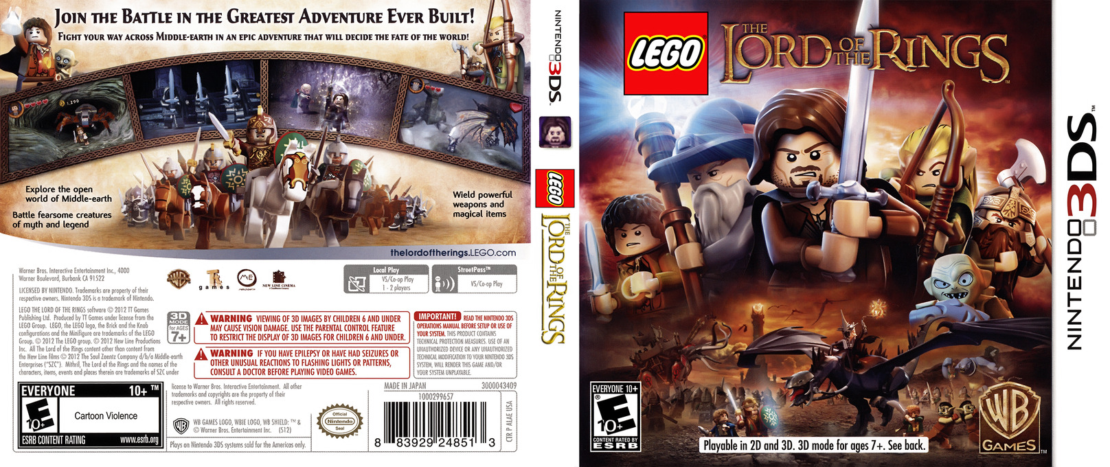 LEGO The Lord of the Rings 3DS coverfullHQ (ALAE)