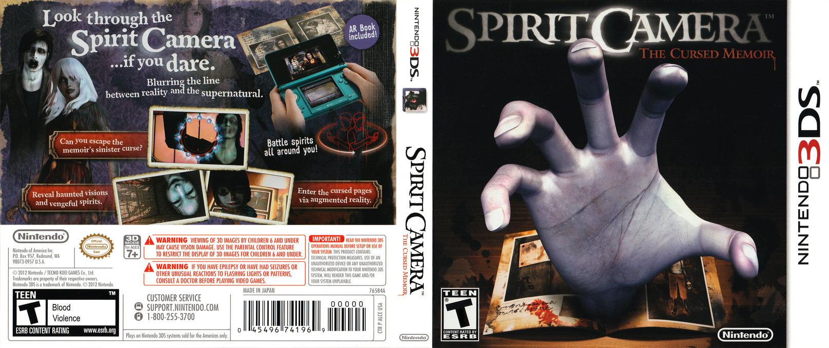 Spirit Camera - The Cursed Memoir 3DS coverfullHQ (ALCE)