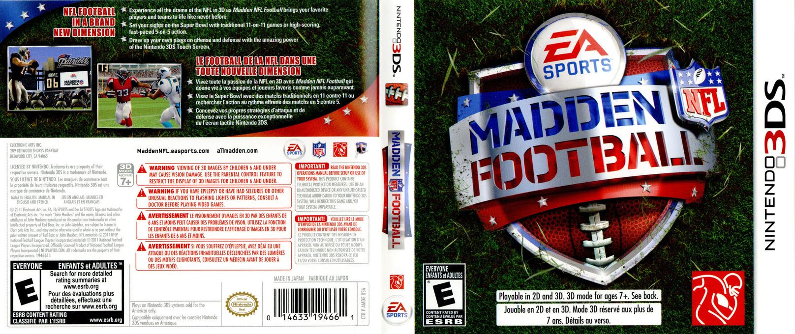 Madden NFL Football 3DS coverfullHQ (AMDE)