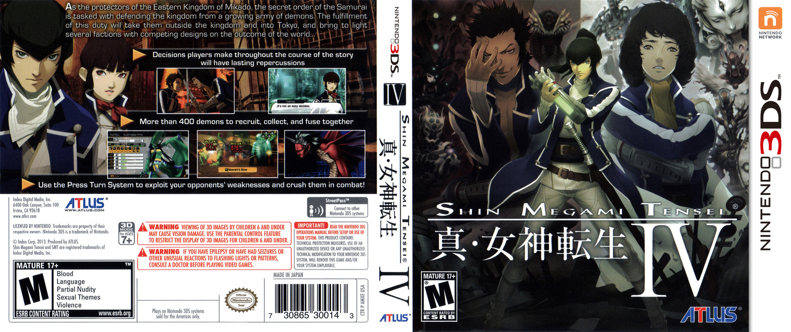 Shin Megami Tensei IV 3DS coverfullHQ (AMXE)