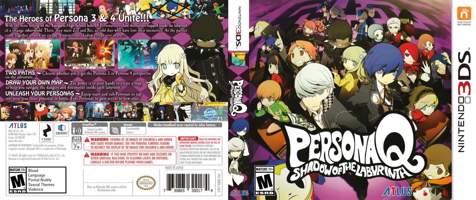 Persona Q - Shadow of the Labyrinth Array coverfullHQ (AQQE)