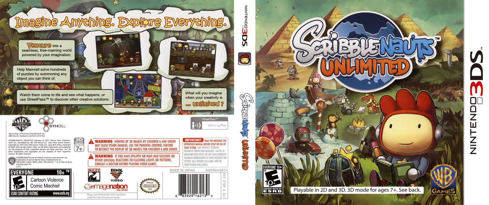 Scribblenauts Unlimited 3DS coverfullHQ (ASLE)