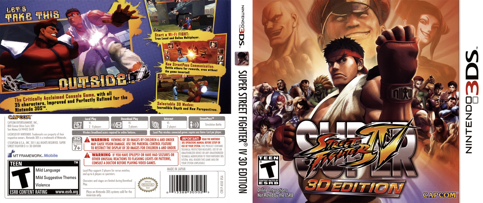 Super Street Fighter IV - 3D Edition 3DS coverfullHQ (ASSE)
