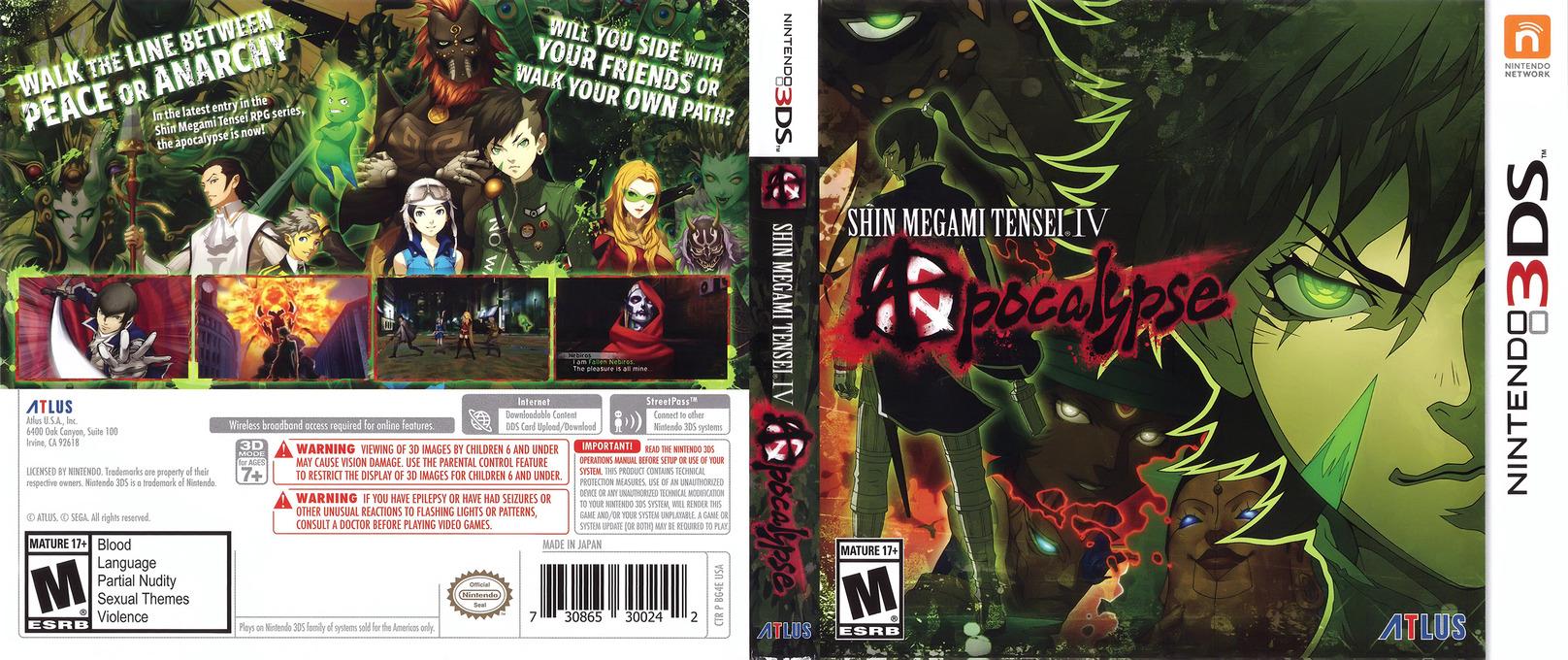 Shin Megami Tensei IV: Apocalypse 3DS coverfullHQ (BG4E)