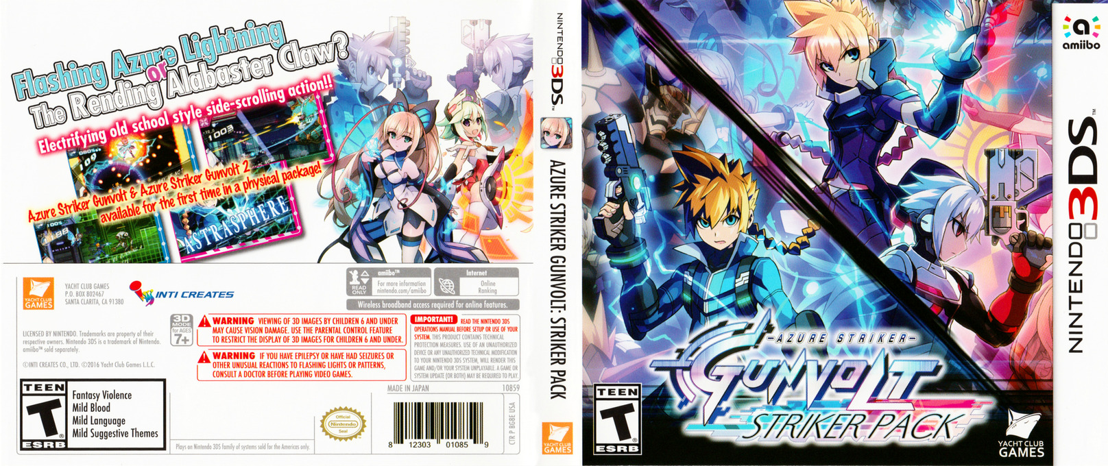 Azure Striker Gunvolt: Striker Pack 3DS coverfullHQ (BG8E)
