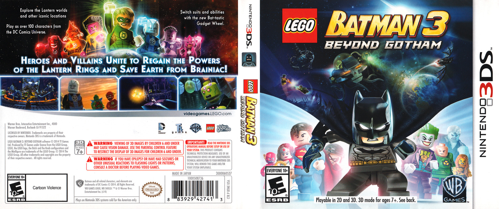 LEGO Batman 3 - Beyond Gotham 3DS coverfullHQ (BTME)