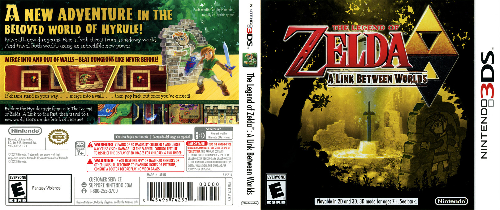 The Legend of Zelda - A Link Between Worlds 3DS coverfullHQ (BZLE)