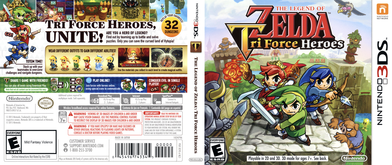 The Legend of Zelda - Tri Force Heroes 3DS coverfullHQ (EA3E)