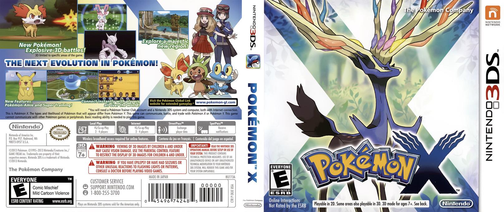 Pokémon X 3DS coverfullHQ (EKJE)