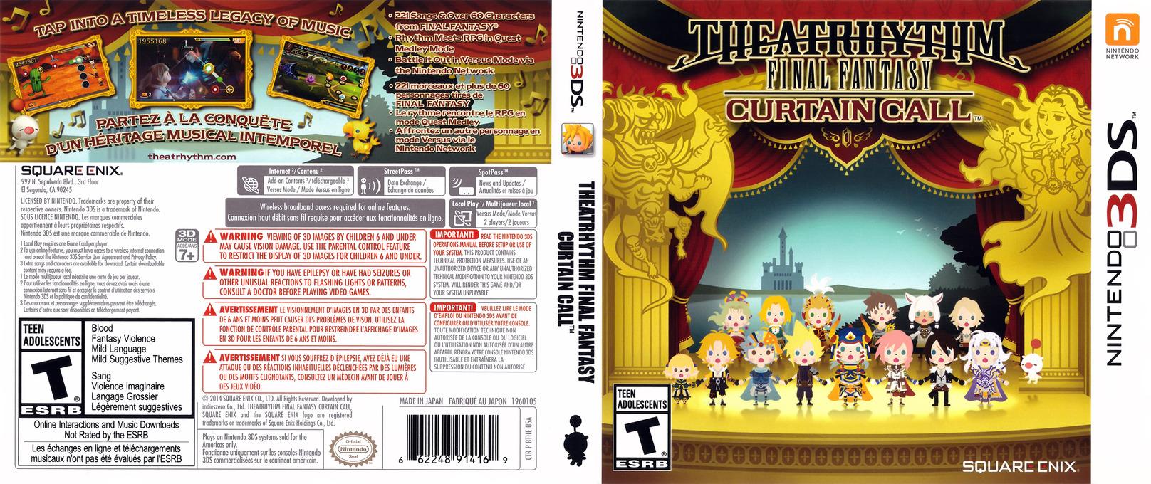 Theatrhythm Final Fantasy - Curtain Call 3DS coverfullHQ (BTHE)
