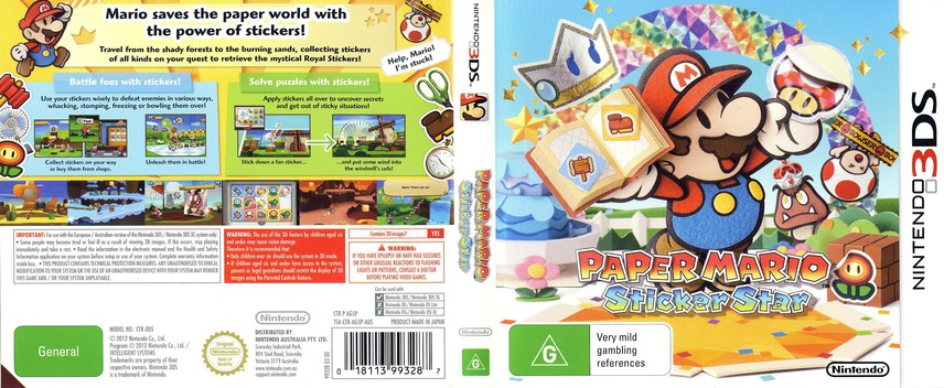 Paper Mario - Sticker Star 3DS coverfullM (AG5P)