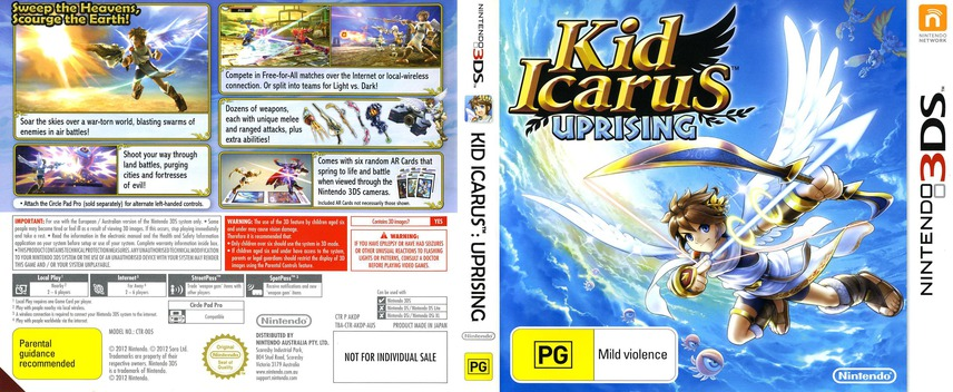 Kid Icarus - Uprising 3DS coverfullM (AKDP)