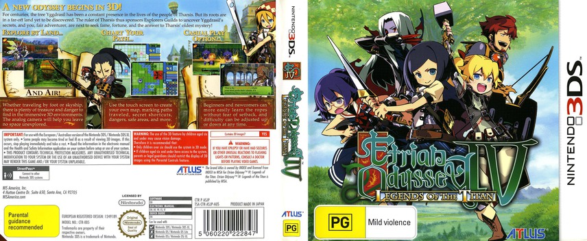 Etrian Odyssey IV - Legends of the Titan 3DS coverfullM (ASJP)