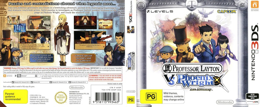 Professor Layton vs. Phoenix Wright - Ace Attorney 3DS coverfullM (AVSP)