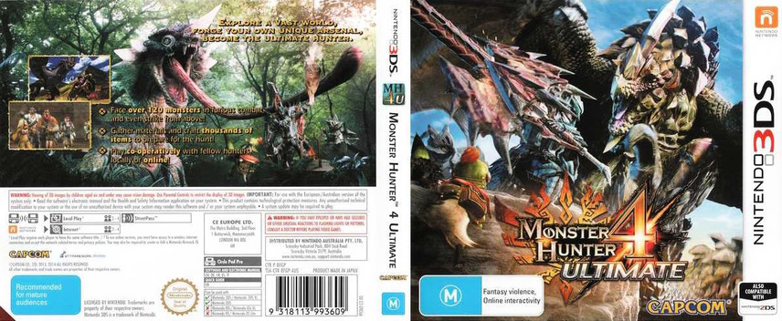 Monster Hunter 4 Ultimate 3DS coverfullM (BFGP)