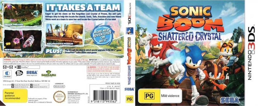 Sonic Boom - Shattered Crystal 3DS coverfullM (BSYP)
