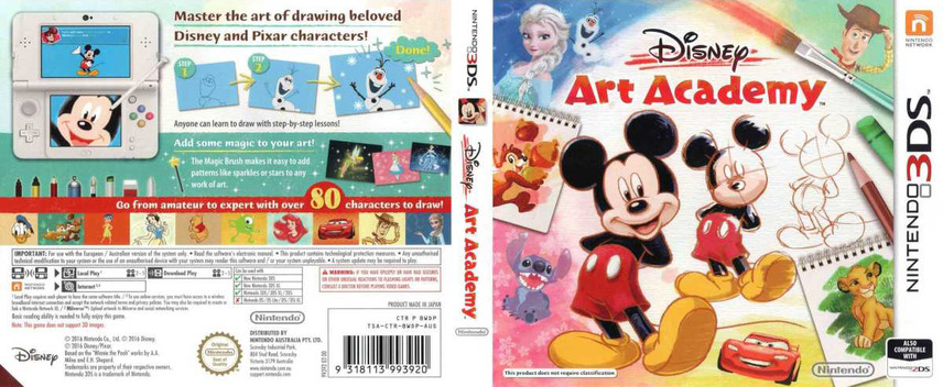 Disney Art Academy 3DS coverfullM (BWDP)