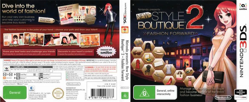 New Style Boutique 2 - Fashion Forward 3DS coverfullM (ECDP)