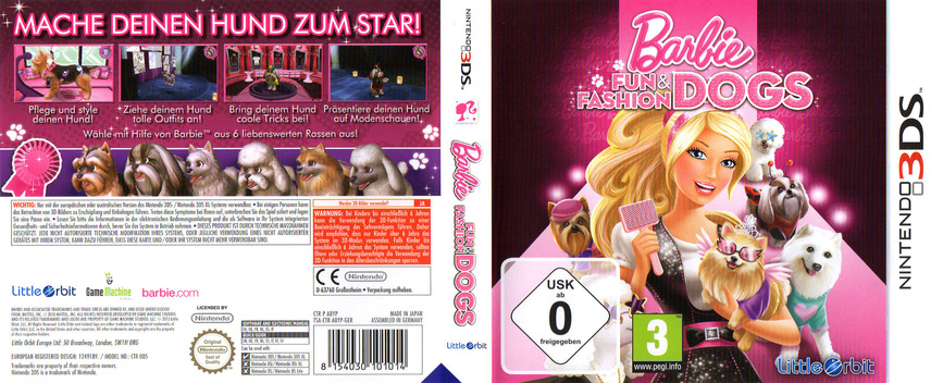 Barbie - Fun & Fashion Dogs 3DS coverfullM (ABYP)