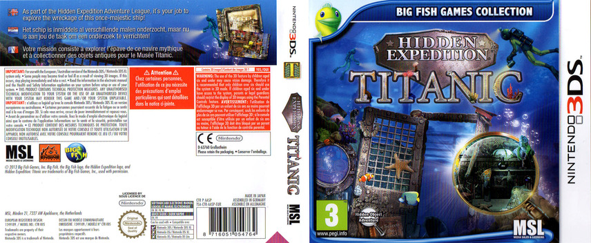 Hidden Expedition - Titanic 3DS coverfullM (AASP)