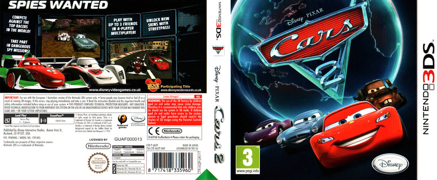 Cars 2 3DS coverfullM (AAZP)