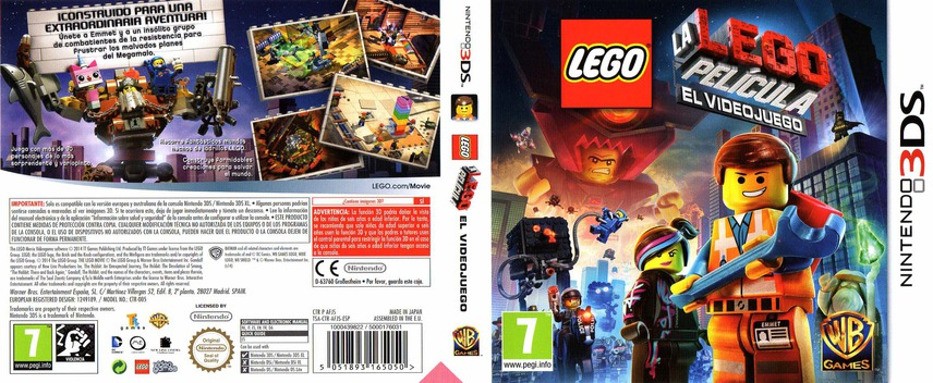 The LEGO Movie Videogame 3DS coverfullM (AFJS)