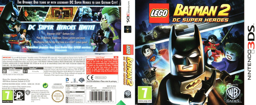 LEGO Batman 2 - DC Super Heroes 3DS coverfullM (ALBP)