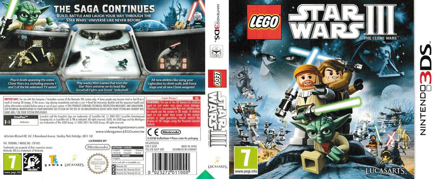 LEGO Star Wars III - The Clone Wars 3DS coverfullM (ALGP)