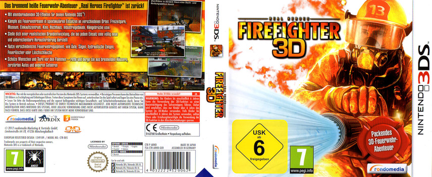 Real Heroes - Firefighter 3D 3DS coverfullM (ARHD)