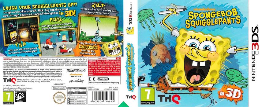 SpongeBob SquigglePants 3DS coverfullM (ASGP)