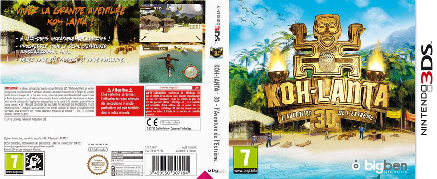 Survivor 3D - The Ultimate Adventure 3DS coverfullM (AV2P)