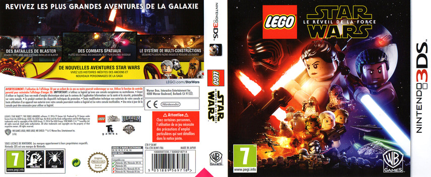 LEGO Star Wars: The Force Awakens 3DS coverfullM (BLWF)