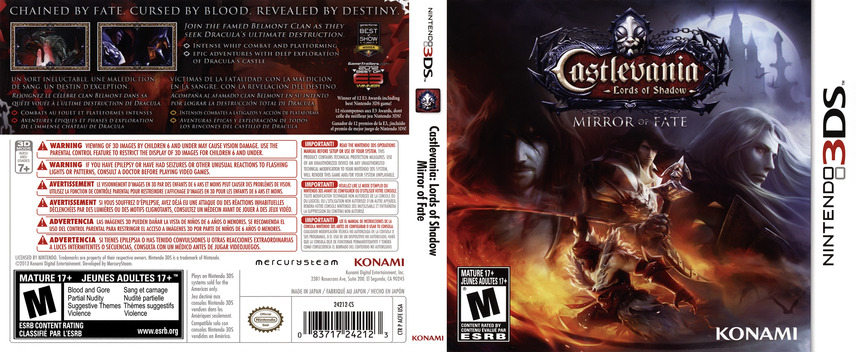 Castlevania - Lords of Shadow - Mirror of Fate 3DS coverfullM (ACFE)