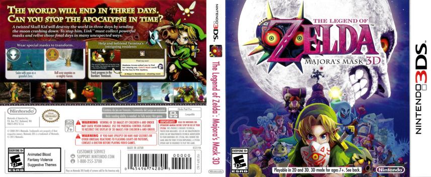 The Legend of Zelda - Majora's Mask 3D 3DS coverfullM (AJRE)