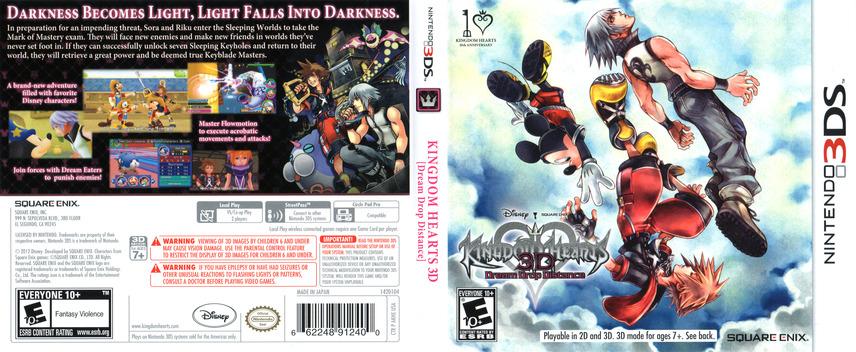 Kingdom Hearts 3D - Dream Drop Distance 3DS coverfullM (AKHE)