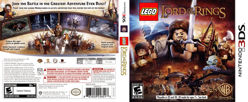 LEGO The Lord of the Rings 3DS coverfullM (ALAE)