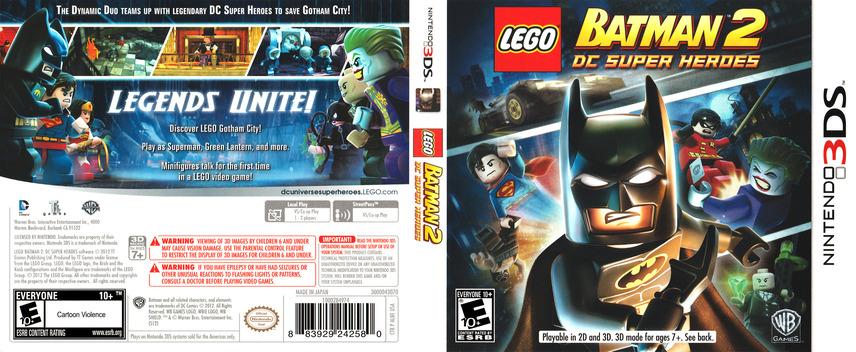 LEGO Batman 2 - DC Super Heroes 3DS coverfullM (ALBE)