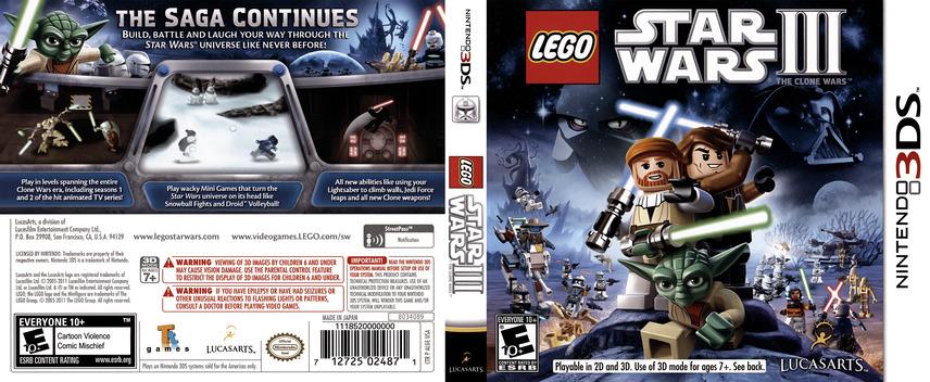 LEGO Star Wars III - The Clone Wars 3DS coverfullM (ALGE)