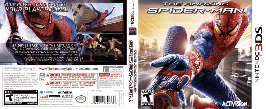 The Amazing Spider-Man 3DS coverfullM (AS8E)