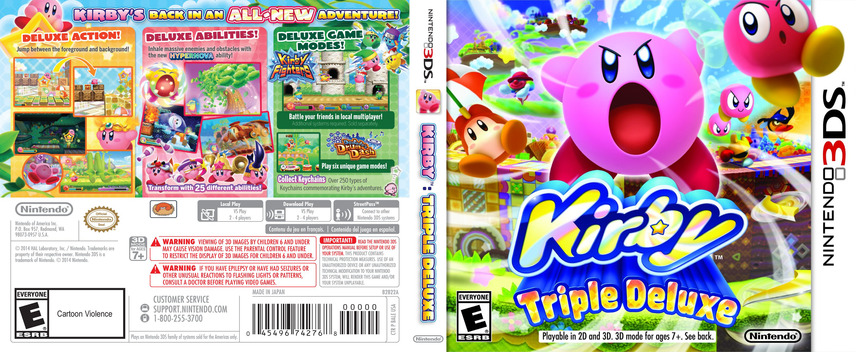 Kirby - Triple Deluxe 3DS coverfullM (BALE)