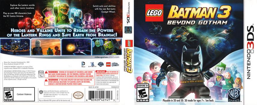 LEGO Batman 3 - Beyond Gotham 3DS coverfullM (BTME)