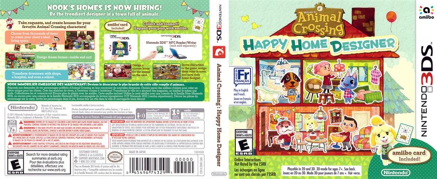 Animal Crossing - Happy Home Designer 3DS coverfullM (EDHE)