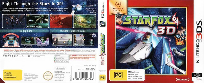 Star Fox 64 3D 3DS coverfullMB (ANRP)