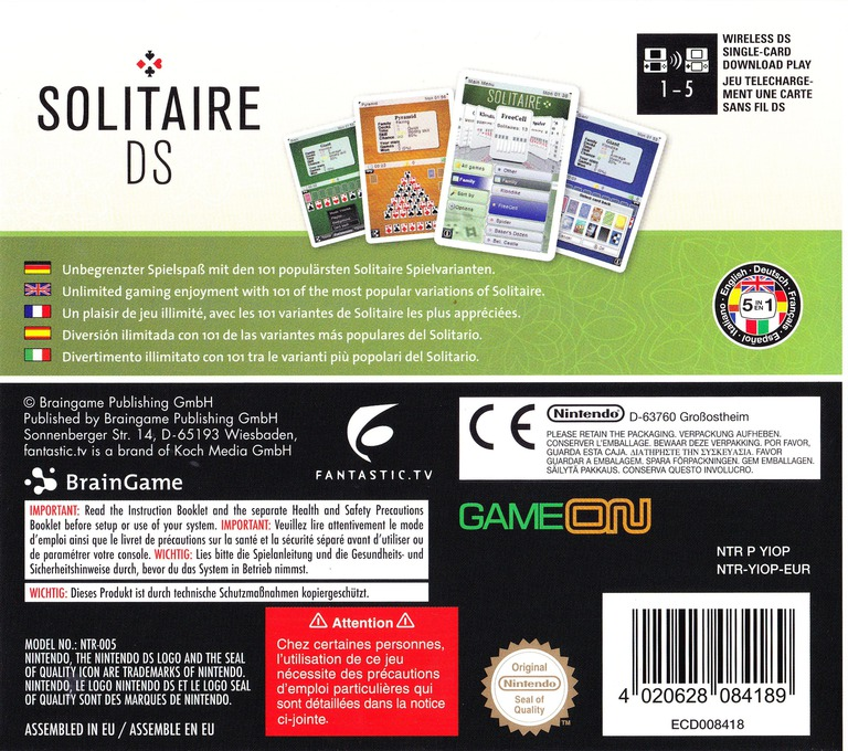 Solitaire DS DS backHQ (YIOP)