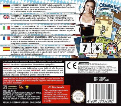 Oktoberfest - The Official Game DS backM (B8BP)