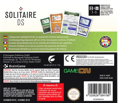 Solitaire DS DS backM (YIOP)