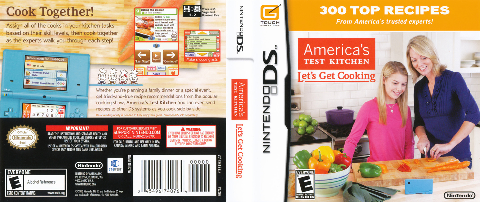 America's Test Kitchen - Let's Get Cooking DS coverfullHQ (BKCE)